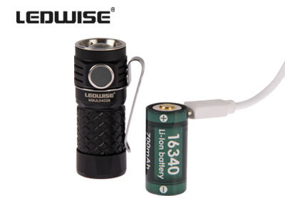 600lm LED kabatas lukturis LEDWISE ROGUE ar akumulatoru