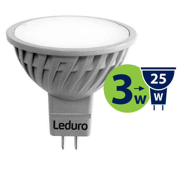 3W (25W) LED spuldze LEDURO MR16