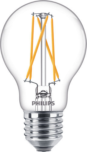 9W (60W) 2200-2700K CRI90 dimmējama LED filament spuldze PHILIPS A60