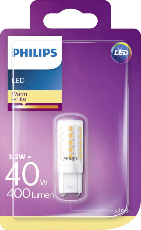 3,2W (40W) 2700K LED spuldze PHILIPS G9