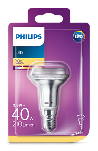 2,8W (40W) 2700K LED spuldze PHILIPS R50