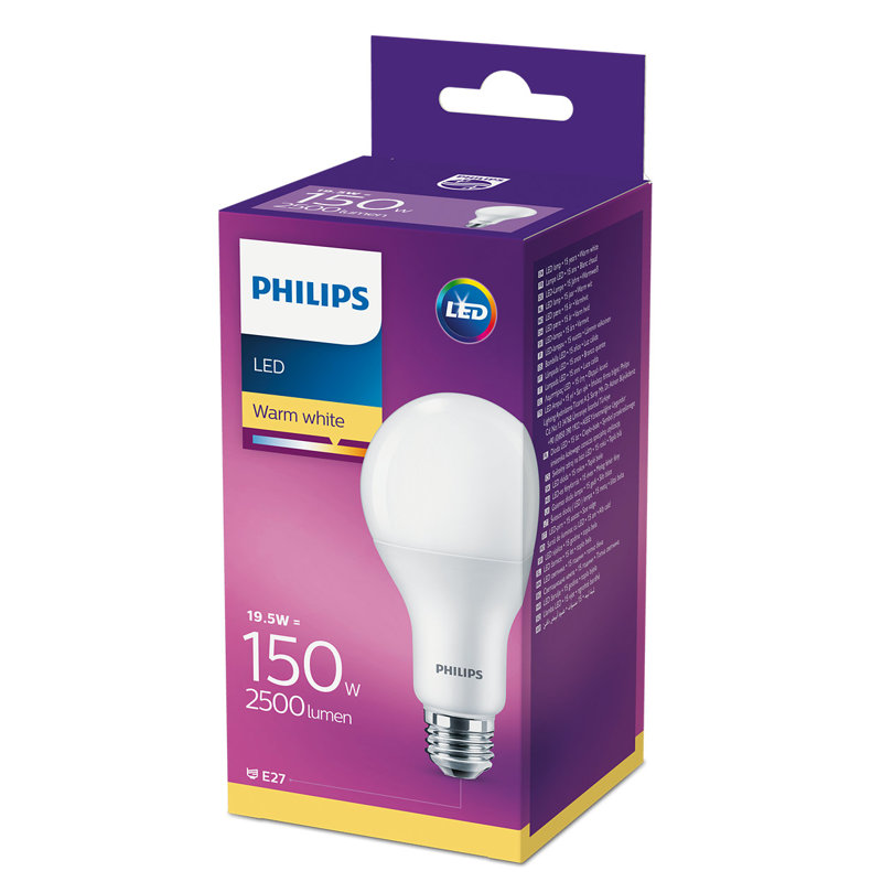 19,5W (150W) 2700K LED spuldze PHILIPS A80