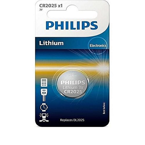 PHILIPS CR2025 baterija (1 gab.)
