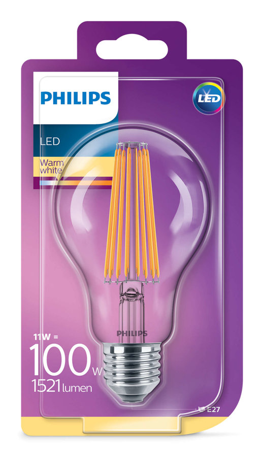 11W (100W) 2700K LED spuldze PHILIPS A67
