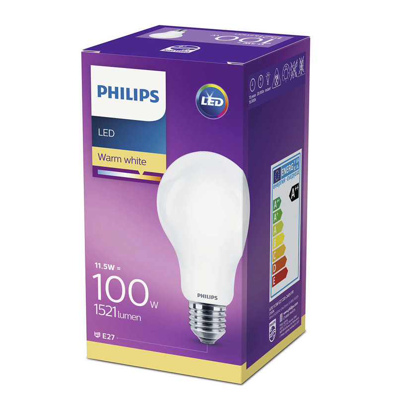 11,5W (100W) LED spuldze PHILIPS A67