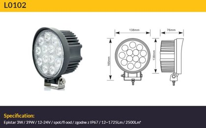 39W LED papildlukturis TruckLED L0102