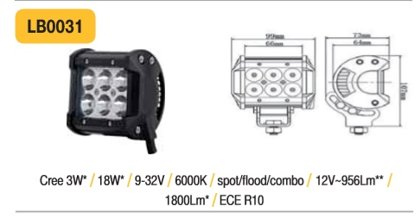 18W LED papildlukturis TruckLED LB0031