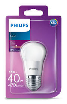 5,5W (40W) 2700K LED spuldze PHILIPS P45