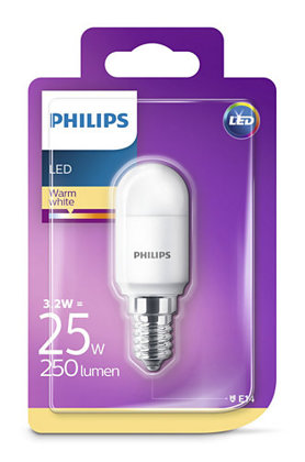 3,2W (25W) 2700K LED spuldze PHILIPS T25