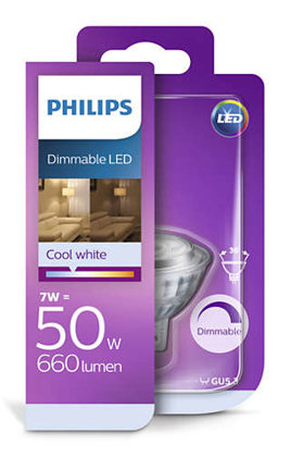 7W (50W) 4000K dimmējama LED spuldze PHILIPS MR16