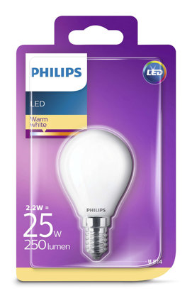 2,2W (25W) 2700K LED filament spuldze PHILIPS P45