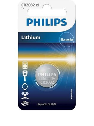 PHILIPS CR2032 baterija (1 gab.)