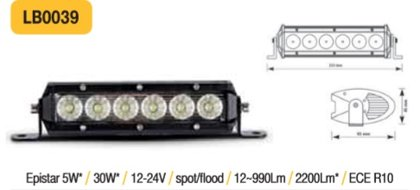 30W LED papildlukturis TruckLED LB0039
