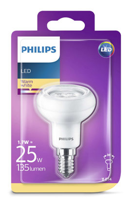1,7W (20W) LED spuldze PHILIPS R50