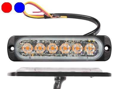LED signāllampa AXIXTECH ST6 (sarkana un zila)