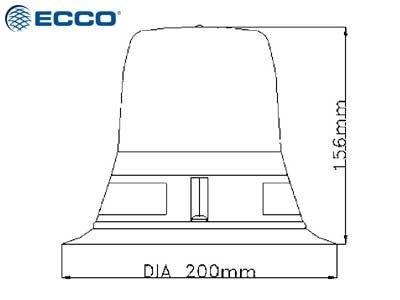 LED aviācijas bākuguns ECCO 411053-ICAO (oranža)