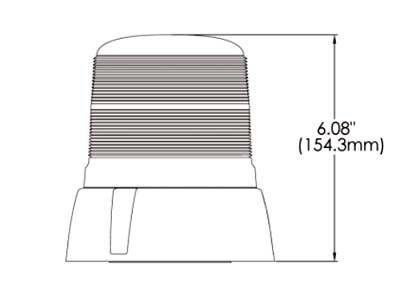 LED bākuguns AXIXTECH B18 (oranža)