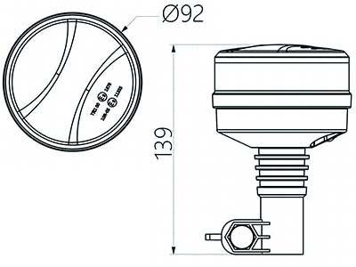 LED bākuguns R65 MINI Low (oranža)