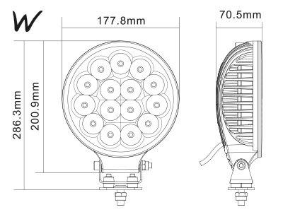 45W 4050lm 6000K LED tālās gaismas lukturis W-LIGHT