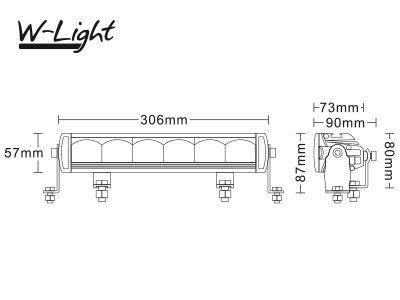72W 5300lm 5700K LED tālās gaismas lukturis W-LIGHT