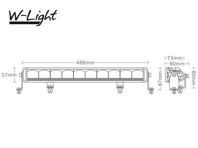 120W 7800lm 5700K LED tālās gaismas lukturis W-LIGHT