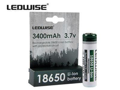 LEDWISE 18650 lādējama baterija (1 gab.)