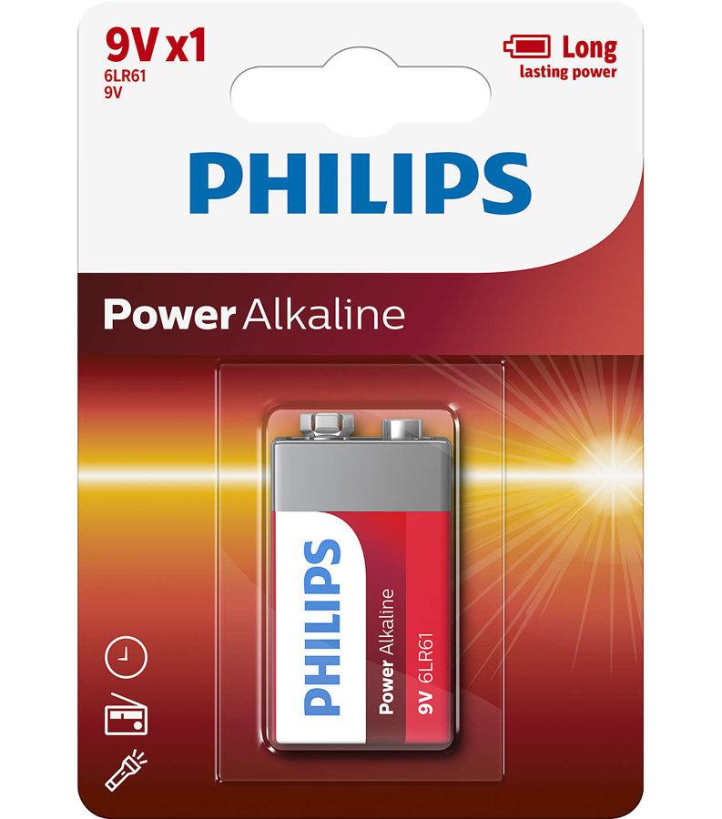 PHILIPS 6LR61 baterija (1 gab.)