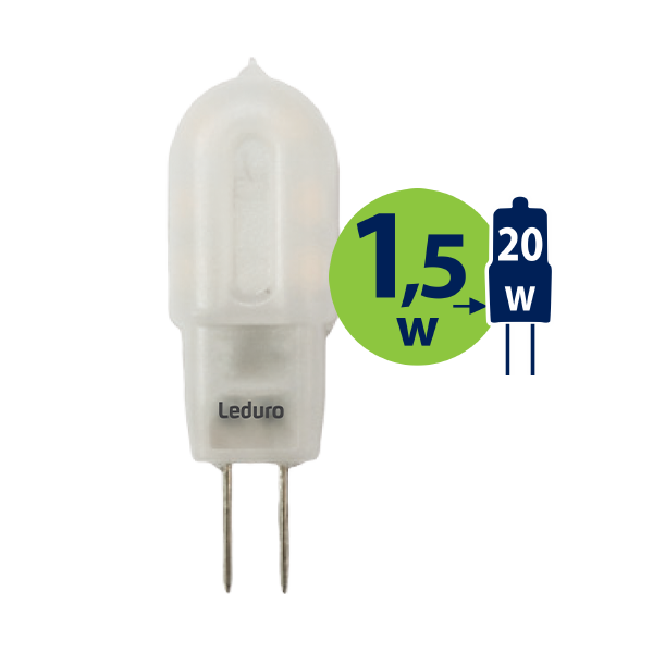 1.5W (20W) 2700K LED spuldze LEDURO G4