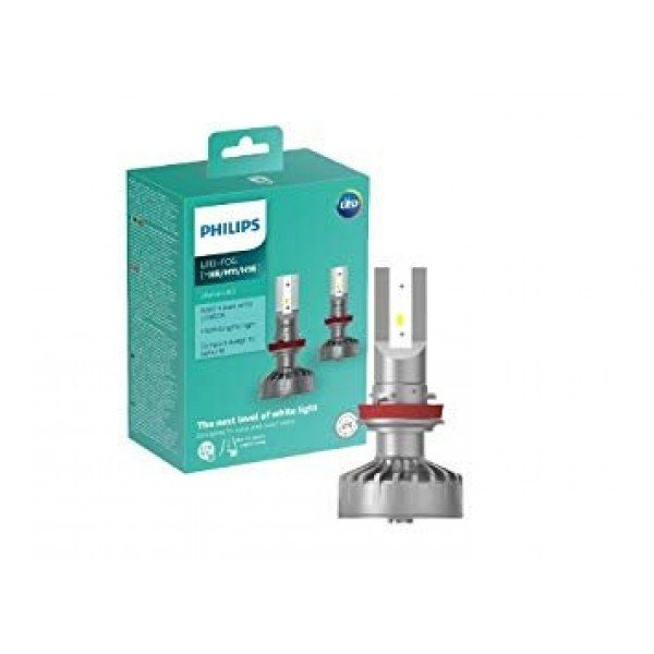 15W 830lm 6200K LED auto spuldze Philips Ultion H8/H11/H16 (2 gab.)
