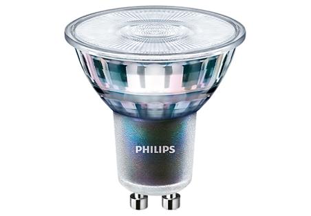 5,5W (50W) 375lm 3000K CRI97 25° dimmējama LED spuldze PHILIPS GU10