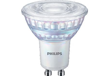 6,2W (80W) 575lm 3000K CRI90 36° LED spuldze PHILIPS GU10