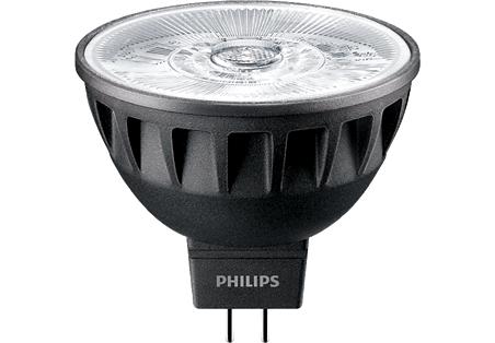 7,5W (43W) 500lm 3000K CRI92 36° dimmējama LED spuldze PHILIPS MR16