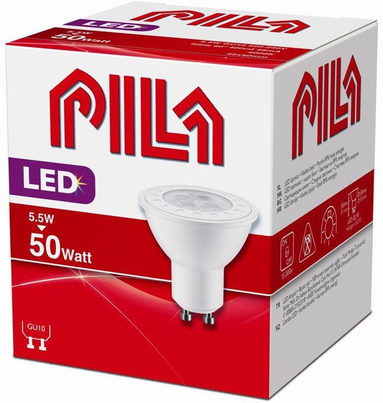 5.5W (50W) 370 lm 4000K 60° LED spuldze PILA GU10