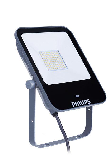 50W 5250lm 4000K LED prožektors PHILIPS ar mikroviļņu sensoru un pulti