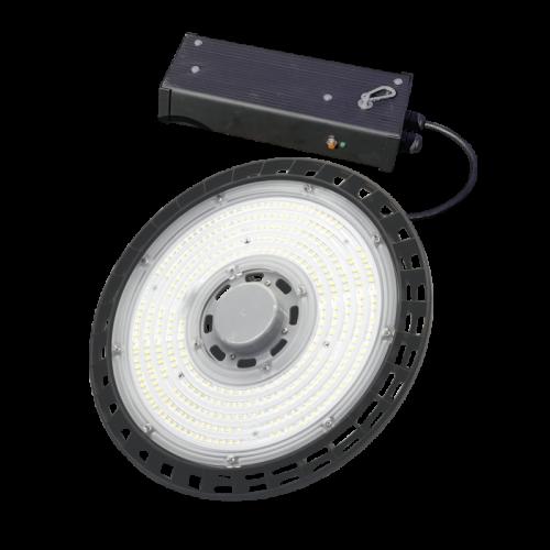 100W 14324lm 4000K LED noliktavas laterna UFA ar avārijas gaismu