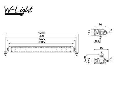 60W 5040lm 5000K LED tālās gaismas lukturis W-LIGHT IMPULSE I