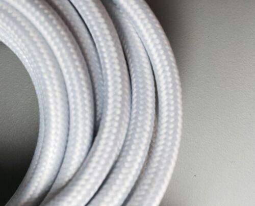 Apaļš auduma retro kabelis. 3x0.75mm², balts