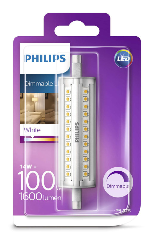14W (100W) 3000K dimmējama LED spuldze PHILIPS R7S