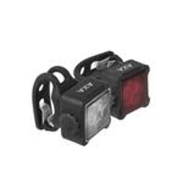 2 x 1 LED velosipēda lukturu komplekts AXA NITELINE 44 USB ar akumulatoru