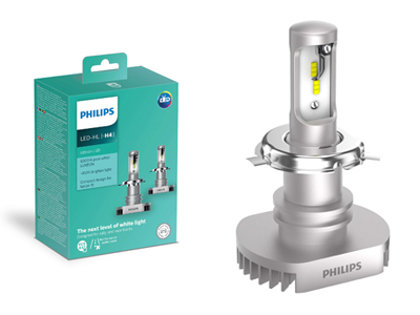 15W 1100lm 6200K LED auto spuldze Philips Ultinon H4 (2 gab.)