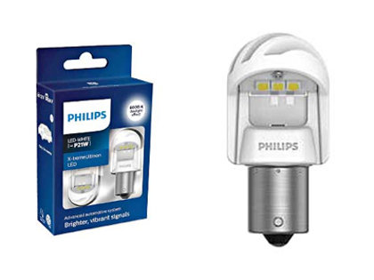 2.7W 350lm 6000K LED auto spuldze PHILIPS X-tremeUltinon LED gen2 P21W (2 gab.)