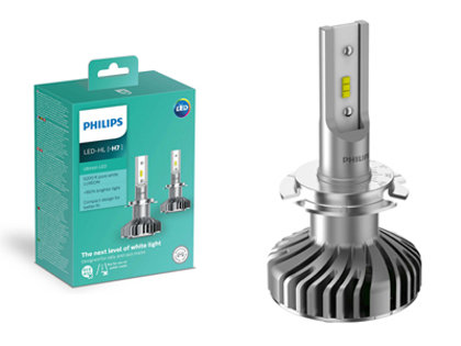 14W 1100lm 6200K LED auto spuldze Philips Ultinion H7 (2 gab.)