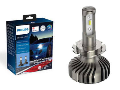 25W 1500lm 5800K LED auto spuldze Philips X-tremeUltion LED gen2 H7 (2 gab.)