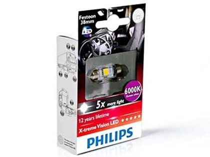 LED auto spuldze Philips 249446000KX1 SV8.5 (1 gab.)