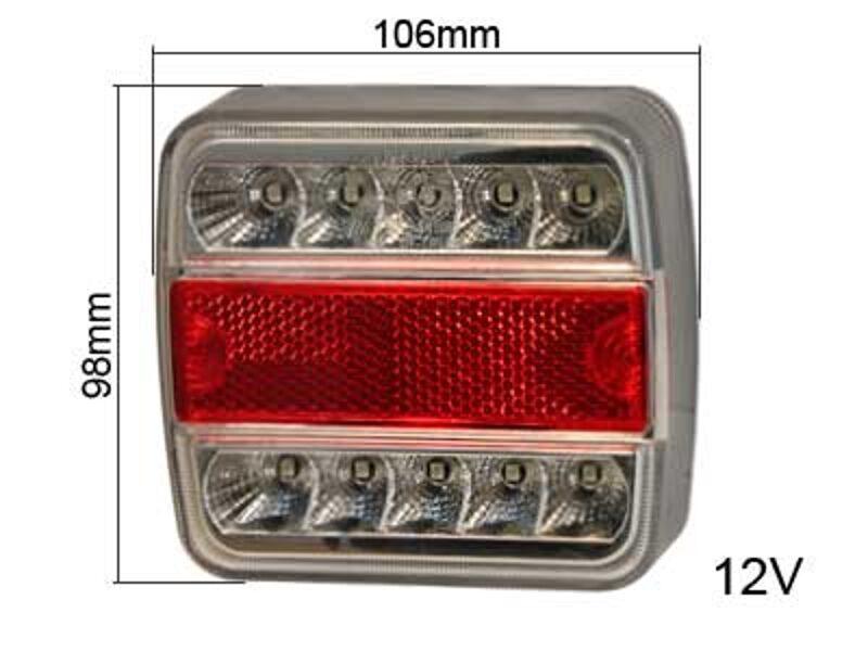 LED aizmugurējais lukturis 1606-27683