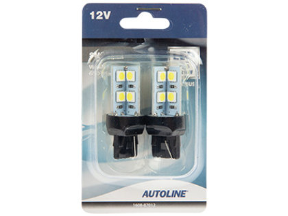 LED CAN-bus auto spuldze AUTOLINE T20 W20W (2 gab.)