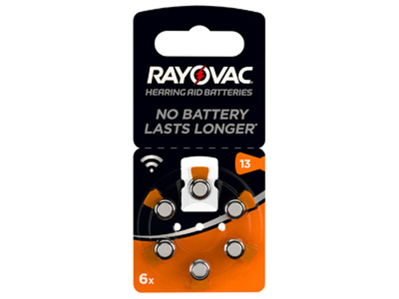 RAYOVAC 13 dzirdes aparātu baterijas (6 gab.)