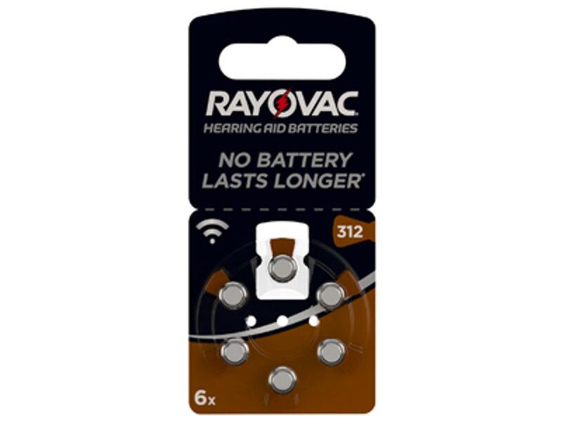 RAYOVAC 312 dzirdes aparātu baterijas (6 gab.)