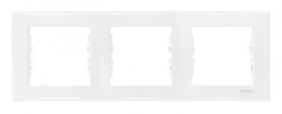 Rāmis 3-vietīgs horizontāls Sedna, balts