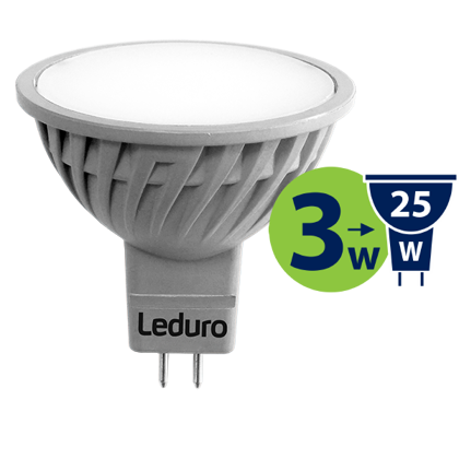 3W (25W) 250lm 3000K LED spuldze LEDURO MR16
